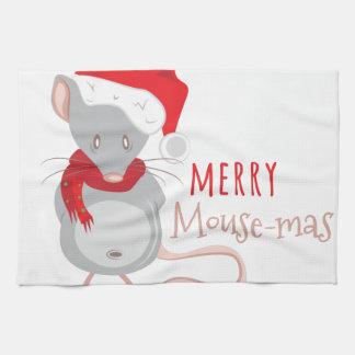 Merry Mouse-mas Kitchen Towel