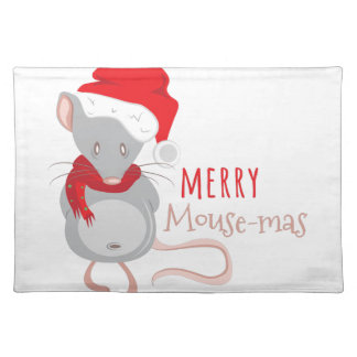 Merry Mouse-mas Placemat
