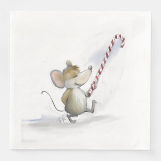Merry Mouse Moe Paper Napkin