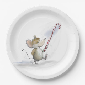 Merry Mouse Moe Paper Plate
