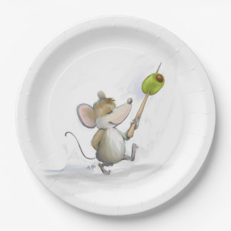 Merry Mouse Moe with Olive Paper Plate