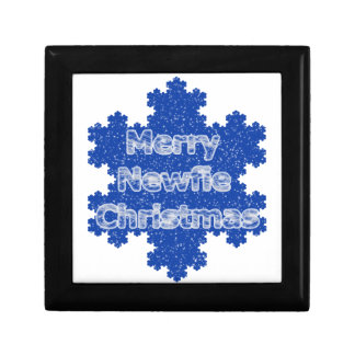 Merry Newfie Christmas Jewelry Boxes