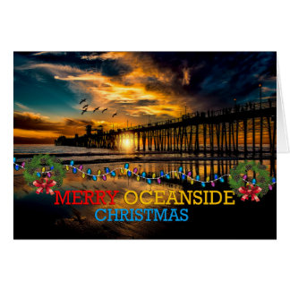 Merry Oceanside Christmas Card