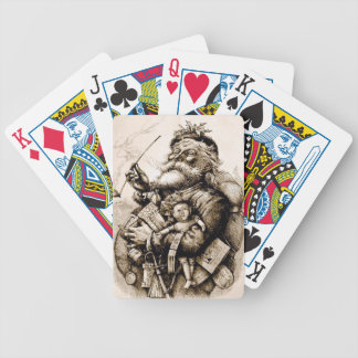 Merry Old Santa Bicycle Playing Cards
