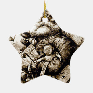 Merry Old Santa Ceramic Ornament