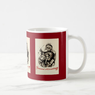Merry Old Santa Claus Season's Greetings Coffee Mug