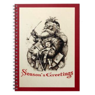 Merry Old Santa Claus Season's Greetings Notebooks