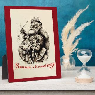 Merry Old Santa Claus Season's Greetings Plaque