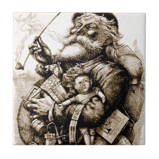 Merry Old Santa Tile