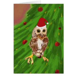 Merry Owl Christmas Card