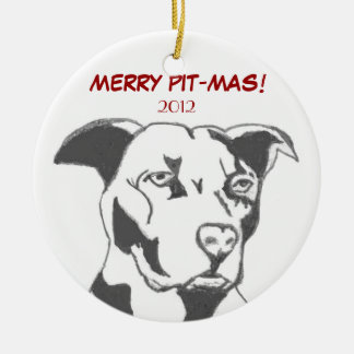 MERRY PIT-MAS! CERAMIC ORNAMENT