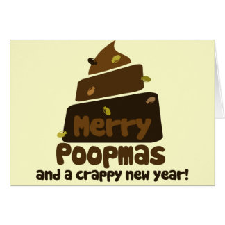 Merry Poopmas Funny holiday Greeting Card