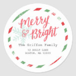 Merry Postage Collection Round Sticker