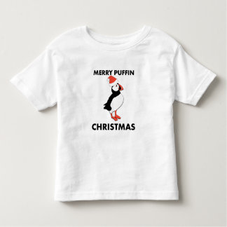 Merry Puffin Christmas Toddler Shirt