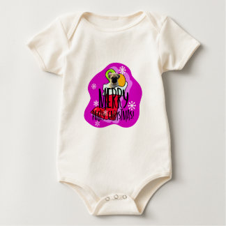 Merry Pugly Christmas Baby Bodysuit
