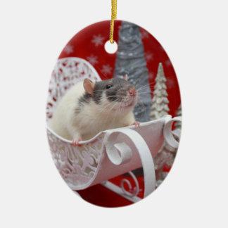 Merry Ratsmas Christmast Ornament