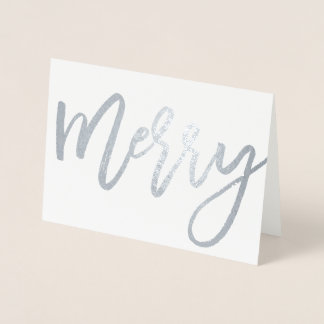 Merry (Real Foil) Holiday Card