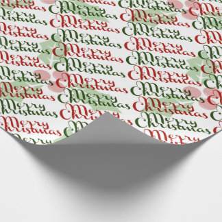 Merry Red and Green Holly Christmas Wrapping Paper