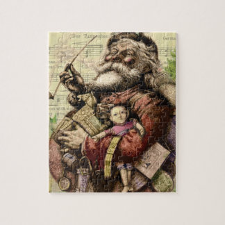 Merry Santa Claus and The Christmas Tree Jigsaw Puzzle