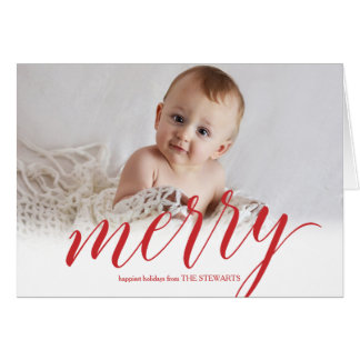 Merry Script Greeting Card