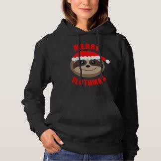 Merry Slothmas Cute Sloth Christmas Hoodie Sweater