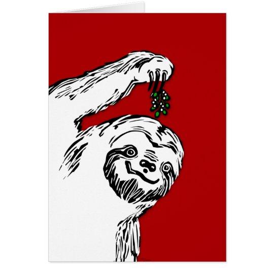 Merry Slothmas!  It's a blank card. For Slothmas. Card