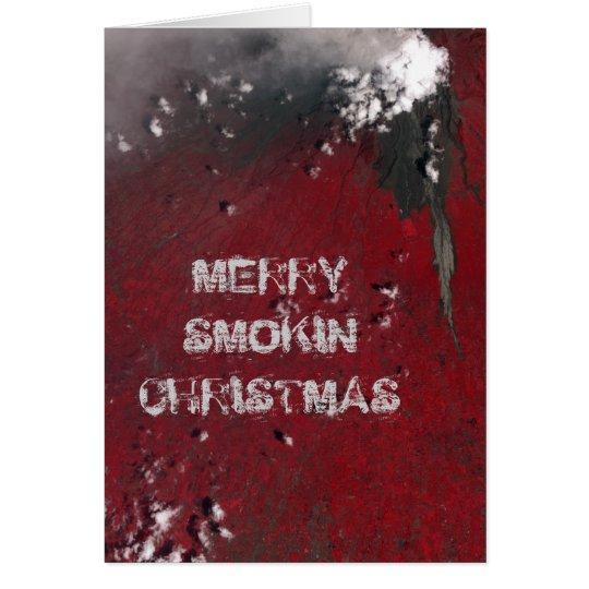 Merry Smokin' Christmas Greeting Card