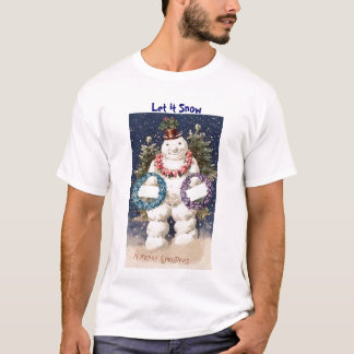 Merry Snowman Nightshirt T-Shirt