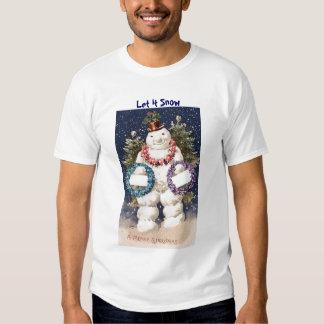 Merry Snowman Nightshirt Tees