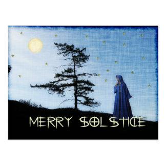 Merry Solstice Night Postcard