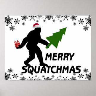 Merry Squatchmas Poster
