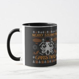 Merry Steampunk Christmas Octopus Ugly Sweater Mug