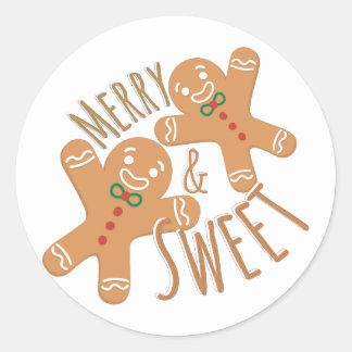 Merry & Sweet Round Sticker