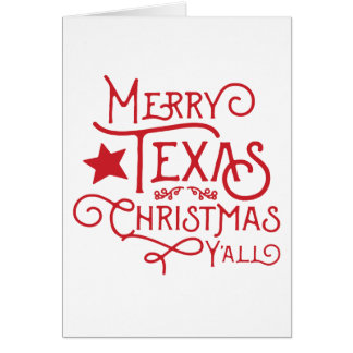 Merry Texas Christmas Y'all Greeting Card
