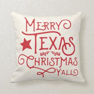 Merry Texas Christmas Y'all Throw Pillow