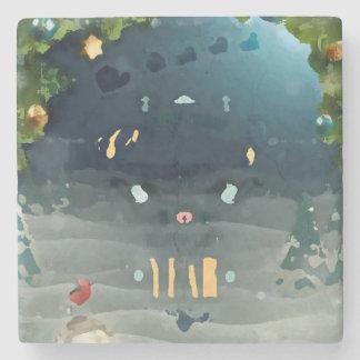 Merry to christmas_bird_coaster stone coaster