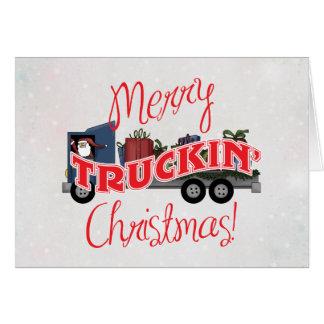 Merry Truckin Christmas Business Christmas Card
