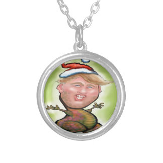 Merry Trumpy Christmas Silver Plated Necklace