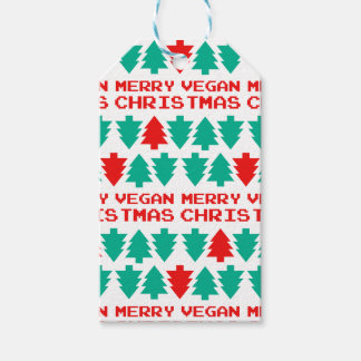 Merry Vegan Christmas Xmas Gift Tag