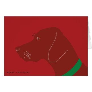 Merry Vizsla Christmas Card
