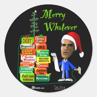 Merry Whatever Round Sticker