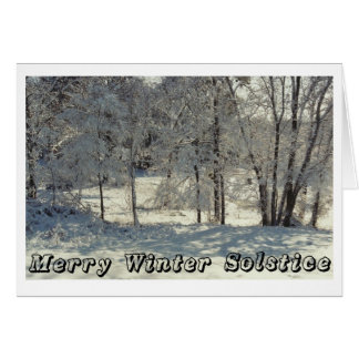 Merry Winter Solstice Card