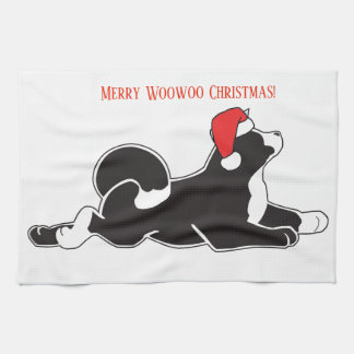 Merry Woowoo Christmas Kitchen Towel