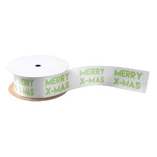 Merry X-mas, Christmas Ribbon Satin Ribbon