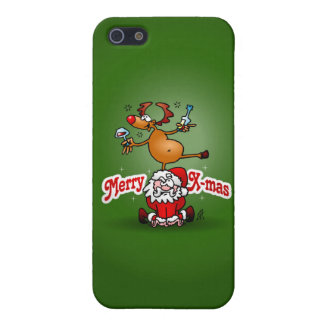 Merry X-mas from Santa Claus and his reindeer Case For iPhone 5/5S