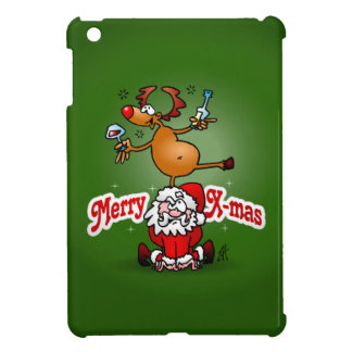 Merry X-mas from Santa Claus and his reindeer iPad Mini Case