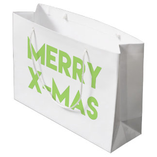 Merry X-Mas, Modern Typography Gift bags