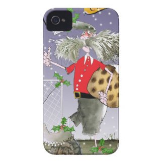 merry xmas football fans Case-Mate iPhone 4 case