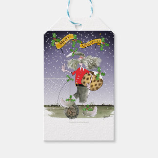 merry xmas football fans gift tags