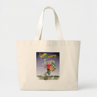 merry xmas football fans large tote bag